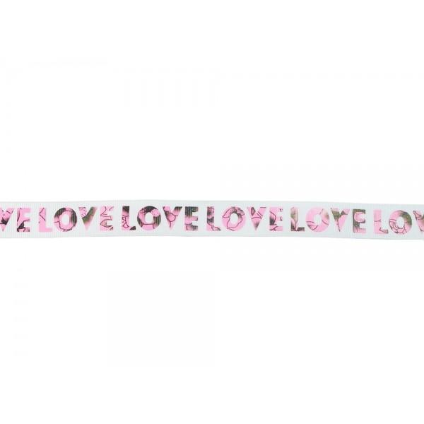 Taśma rypsowa LOVE (TDR001)