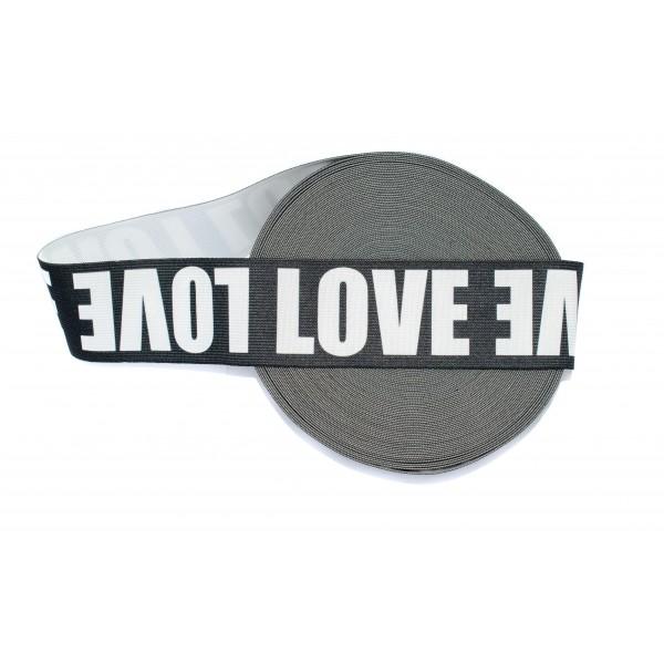 Taśma Guma drukowana LOVE (TGD011)