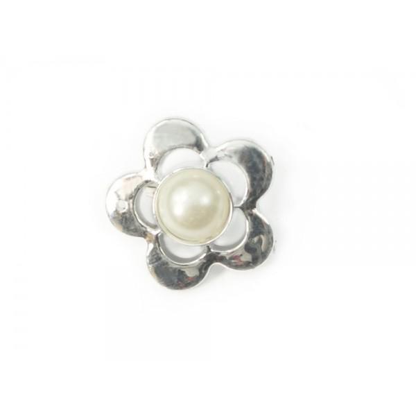 Broszka ozdobna srebrna z perłą